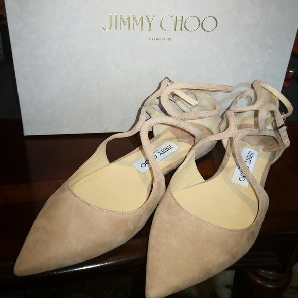 Jimmy Choo Lancer Flat Ballet Pink